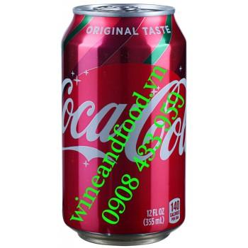 Nước ngọt Coca Cola Mỹ Original Taste 355ml