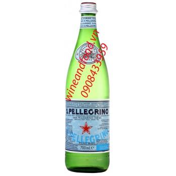 Nước suối khoáng San Pellegrino (S.Pellegrino) có ga Ý 750ml