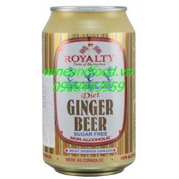Bia gừng Ginger beer không đường Royalty 330ml