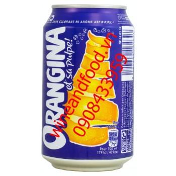 Nước cam Orangina lon nhôm 330ml nhập từ Pháp