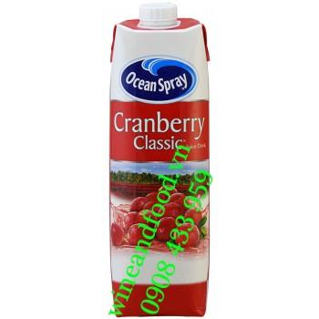 Nước ép Cranberry Classic Ocean Spray hộp 1 lít