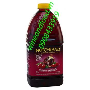 Nước ép lựu nam việt quất Northland 2l84