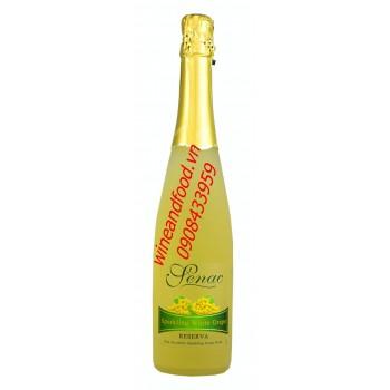 Nước trái cây có ga Senac nho trắng 750ml