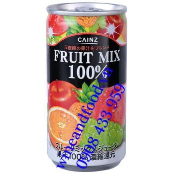 Nước trái cây hỗn hợp nguyên chất 100% Cainz 190g