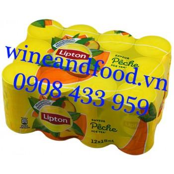 Trà Đào Lipton Pháp lon 15clx12