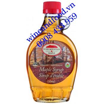 Siro cây lá Phong Canada Echo Mountain Organic chai bầu 250ml
