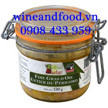 Gan Ngỗng Foie Gras D'oie Entier du Périgord Cellier Sarlat 190g