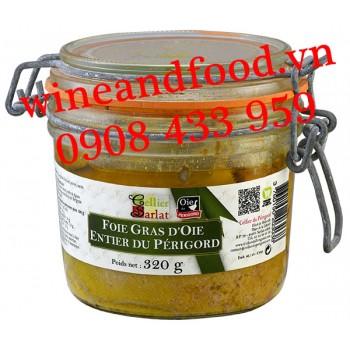 Gan Ngỗng Foie Gras D'oie Entier du Périgord Cellier Sarlat 320g