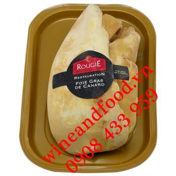 Gan Ngỗng Foie Gras Pháp tươi nguyên miếng Rougié 640g