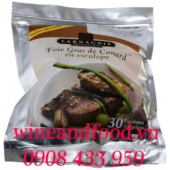 Gan Ngỗng Foie Gras Canard tươi Pháp Larnaudie bịch 30 miếng 1kg