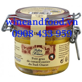 Gan Vịt Foie Gras Entier nguyên miếng rượu Armagnac Reflets de France 180g