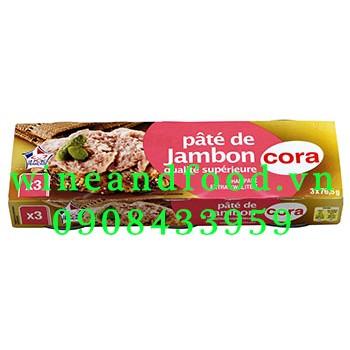 Pate de jambon Cora lốc 3 hộp