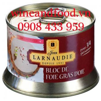 Pate gan ngỗng Bloc De Foie Gras D'oie Larnaudie 130g
