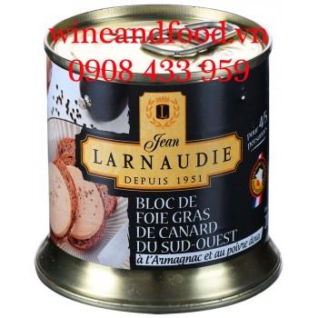 Pate gan ngỗng Bloc de Foie Gras rượu l'Armagnac hạt tiêu Larnaudie 200g