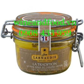 Pate gan Ngỗng Foie Gras Canard Entier La Tradition Larnaudie 120g