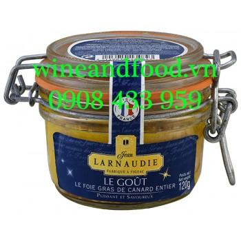Pate Gan Vịt Foie Gras Entier Larnaudie Le Gout 120g