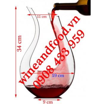 Bình Decanter rượu vang chữ U