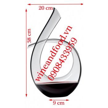 Bình decanter rượu vang xoắn Hagibis