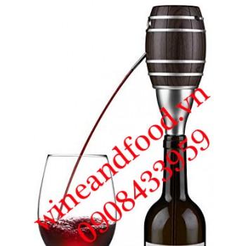 Dụng cụ bơm và sục khí rượu vang bằng điện