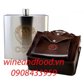 Bình đựng rượu inox túi da 3l24