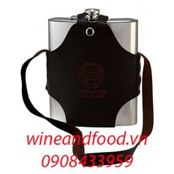 Bình rượu inox túi da 1l440