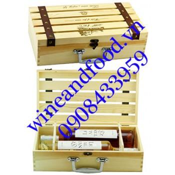 Hộp rượu vang gỗ 4 chai 01