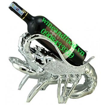 Kệ rượu hình con tôm inox