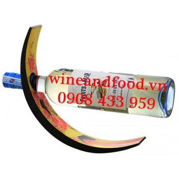 Kệ rượu vang Bán Nguyệt Sơn Mài