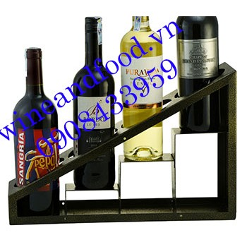 Kệ rượu vang tam giác 4 chai