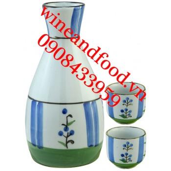 Bộ bình rót rượu Sake 2 ly 01
