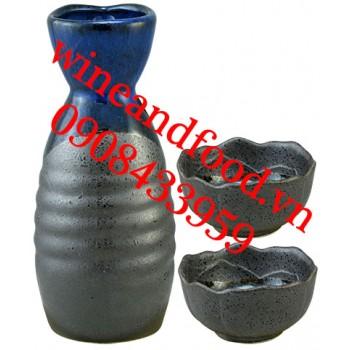 Bộ bình rót rượu Sake 2 ly 02