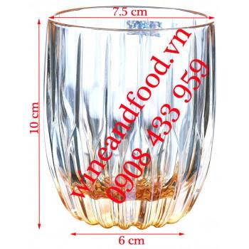 Ly Rock uống Whisky thủy tinh Hongli nâu tròn 285ml