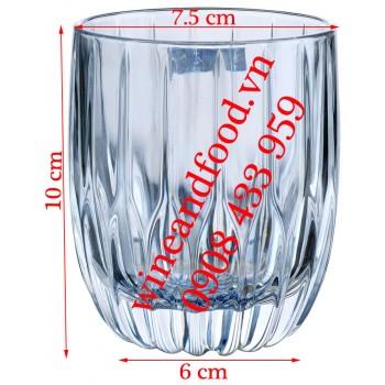 Ly Rock uống Whisky thủy tinh Hongli trắng tròn 285ml