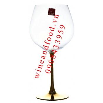 Ly rượu vang pha lê mạ vàng Rona