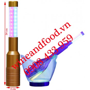 Đèn LED màu trang trí chai rượu 05