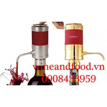 Dụng cụ sục khí bơm rượu vang điện Sorbo