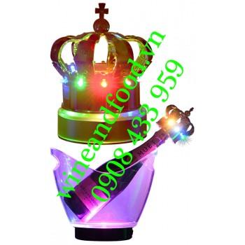 Nắp rượu Champagne đèn Led vương miệng 01