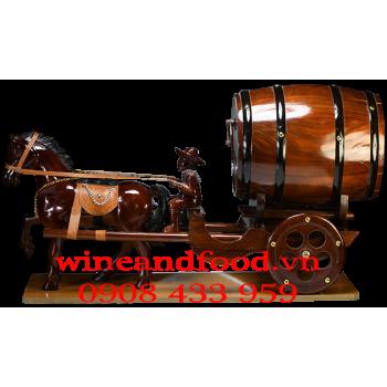 Kệ rượu vang 1 Ngựa kéo pháo
