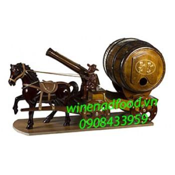 Kệ rượu vang ngựa kéo pháo trống rượu