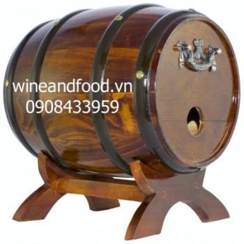 Trống gỗ rượu vang 3l