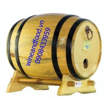 Trống gỗ rượu vang 3l số 1