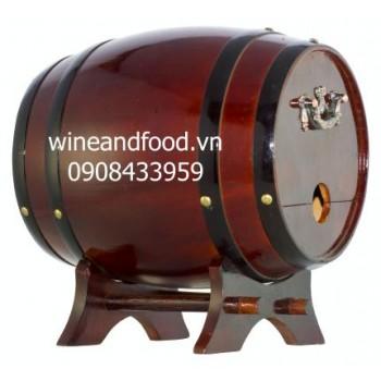Trống gỗ rượu vang 3l số 2
