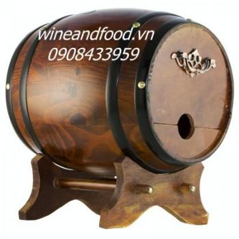 Trống gỗ rượu vang 3l số 3