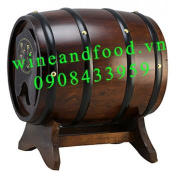 Trống gỗ rượu vang 3l số 4