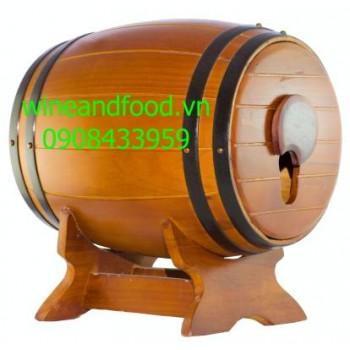 Trống gỗ rượu vang 5l