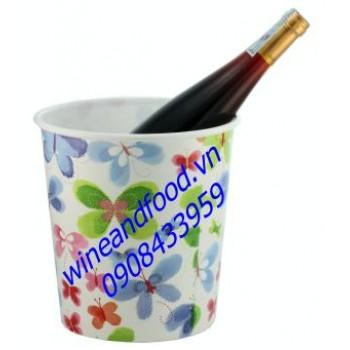 Xô đá ướp rượu vang nhựa