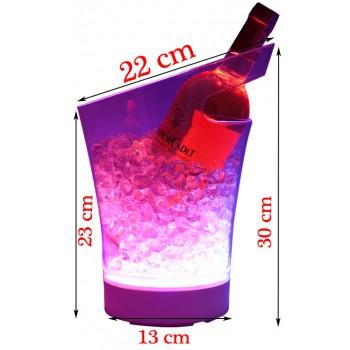 Xô đá ngâm ướp rượu có đèn LED 05