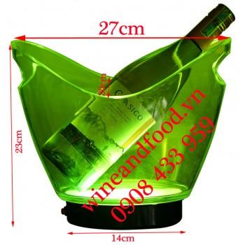 Xô đá ngâm ướp rượu có đèn LED 07