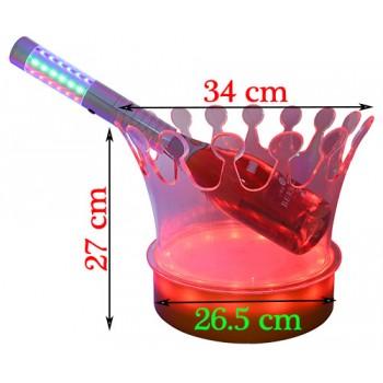 Xô đá ngâm ướp rượu có đèn led chuyển màu 01