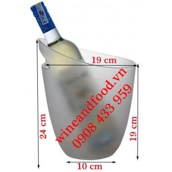 Xô đá ngâm ướp rượu mờ sương cao cấp 06